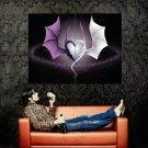 Dragons Fantasy Love Heart Feeling Huge 47x35 Print Poster