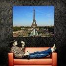 Eiffel Tower Paris France Huge 47x35 Print Poster