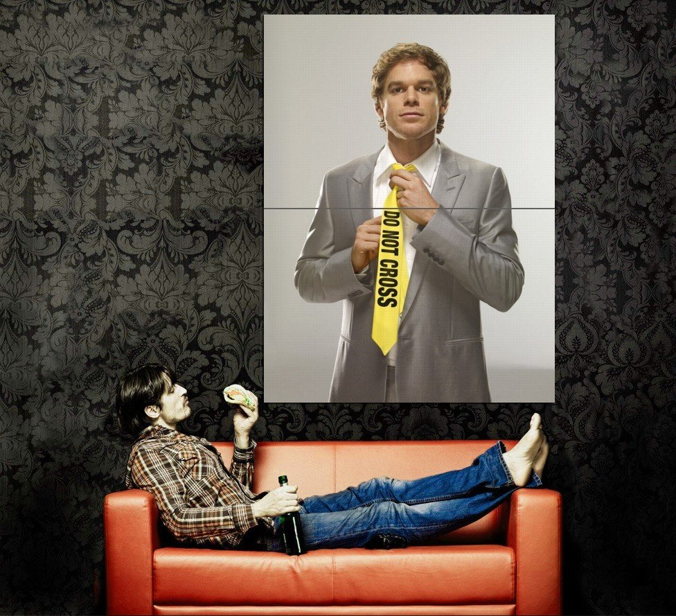Dexter Do Not Cross Tie TV Series Huge 47x35 Print Poster