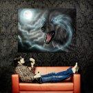 Full Moon Wolf Dark Art Huge 47x35 Print Poster