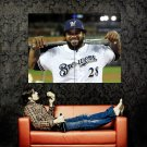 Prince Fielder Milwaukee Brewers MLB Huge 47x35 Print Poster