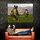 US Army Soldiers Military Weapon Huge 47x35 Print Poster