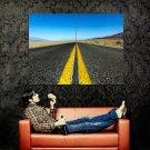 Desert Road Highway Horizon Nature Huge 47x35 Print Poster