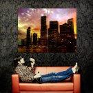 Methevas Sunset City Australia Cityscape Huge 47x35 Print Poster