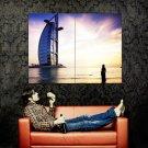 Burj Al Arab Dubai Cityscape Huge 47x35 Print Poster