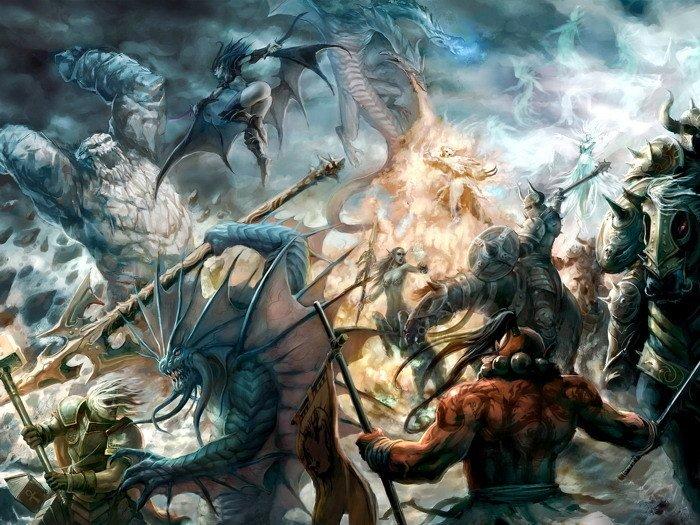 DotA Defense Of The Ancients Battle Art 32x24 Print POSTER