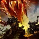 Guild Wars Battle Art Mmorpg 32x24 Print Poster