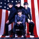 The Beatles American Flag Legends Music 32x24 Print POSTER