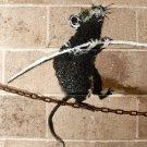 Tightrope Walking Rat Banksy Graffiti Street Art 32x24 Print POSTER