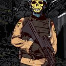 Skeleton Soldier Weapon Cool Vector Art 32x24 Print POSTER