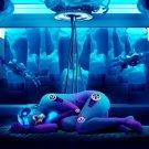 Sleeping Robot Girl Cyberpunk Fantasy Sci Fi Art 32x24 Print POSTER