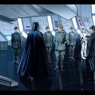 Darth Vader Stormtroopers Star Wars Vector Art Sci Fi 32x24 Print POSTER
