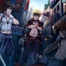 Naruto Uchiha Sasuke Inuzuka Kiba Anime Manga Art 32x24 Print POSTER