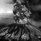 Volcano Eruption Ash Cloud Nature BW 32x24 Print POSTER