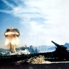 Nuclear Artillery Test Cloud Military Weapon 32x24 Print POSTER