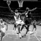 Michael Jordan Vs Shawn Kemp BW NBA Sport 32x24 Print POSTER