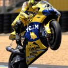 Valentino Rossi Whellie Motorcycle Bike Sport 32x24 Print POSTER
