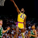 James Worthy Layup Los Angeles Lakers BW NBA Basketball 32x24 POSTER