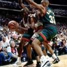 Michael Jordan Double Team Chicago Bulls NBA Basketball 32x24 POSTER
