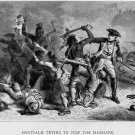 Montcalm Massacre Engraving Native American Indians 32x24 POSTER