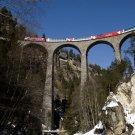 Engadin Valley Swiss Alps Train Bridge Around The World 32x24 POSTER