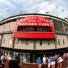 Cubs Win Chicago Baseball Stadium 32x24 POSTER