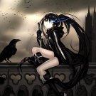 Black Rock Shooter Kuroi Mato Raven Anime Art 32x24 POSTER