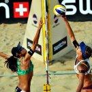 Hot Babes Beach Volleyball Women Sport 32x24 Print POSTER