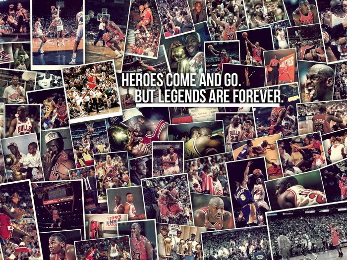 Legend Michael Jordan Nba Basketball 32x24 Print Poster