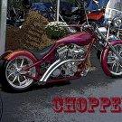 Chopper Cruiser Custom Bike Motorcycle 32x24 Print POSTER