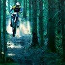 Husaberg Forest Jump Motocross Bike 32x24 Print POSTER