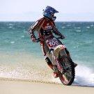 Drift Beach Motocross Bike Motorcycle 32x24 Print POSTER