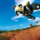 Suzuki High Jump Motocross Bike 32x24 Print POSTER