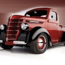 Retro Old Pickup Truck Red Shiny Car 32x24 Print POSTER