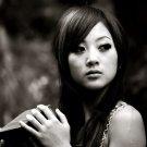 Hot Asian Girl BW Pretty Face Portrait 32x24 Print POSTER