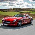 Mercedes SLS Red Speed Sport Car 32x24 Print POSTER