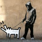 Graffiti Barking Dog Cool Art Style 32x24 Print POSTER