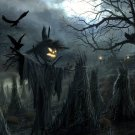 Halloween Scarecrow Jack O Lantern 32x24 Print Poster