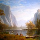 Deers Mountains River Art Landscape 32x24 Print POSTER