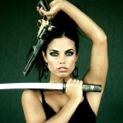 Hot Girl Colt Revolver Tanto Weapon 32x24 Print POSTER