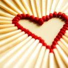 Love Heart Matches Cool Macro 32x24 Print POSTER