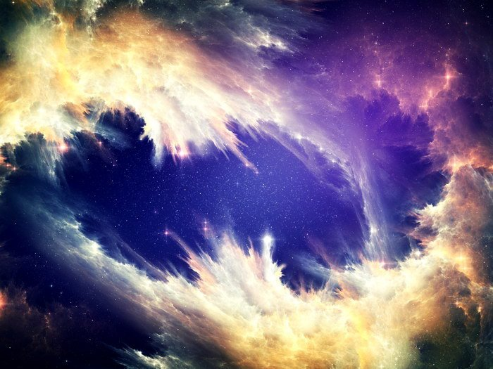 Nebula Cloud Stars Galaxy Space 32x24 Print POSTER