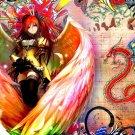 Colorful Girl Wings Dragon Anime Art 32x24 Print Poster