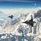 Planes Mountain Peak Military Aircraft POSTER