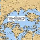Map Of Online Communities 32x24 Print Poster