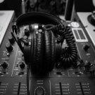 DJ Professional Headphones Hi Tech 32x24 Print Poster