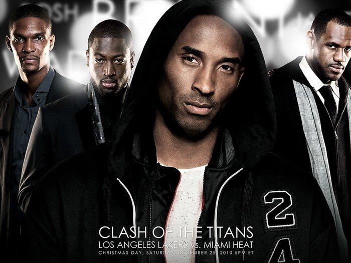 Kobe Bryant Clash Of The Titans NBA 32x24 Print Poster