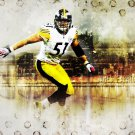 James Farrior Pittsburgh Steelers NFL 32x24 Print Poster