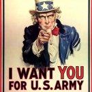 Uncle Sam Classic Vintage Art 32x24 Print Poster