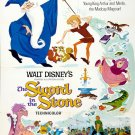 The Sword In The Stone Classic Movie Vintage 32x24 Print Poster